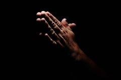 be för händer Arkivfoto