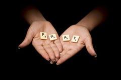 be för händer Arkivbild