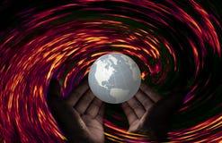 Be för Irma herricane, be för världen Arkivbild