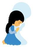 Be för liten flicka Royaltyfri Fotografi