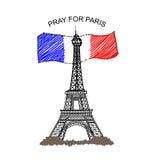 Be för Paris Royaltyfri Foto