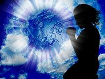 Be för världen Fotografering för Bildbyråer