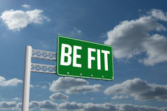 Be fit against sky and clouds Stock Photography