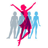 Be fit, woman silhouette images Stock Photography