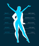 Be fit, woman silhouette images Royalty Free Stock Images