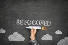 Be focused concept Royalty Free Stock Photos