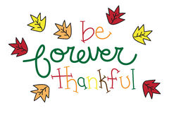 Be Forever Thankful Royalty Free Stock Photography