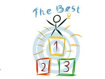 Be the first children artistic drawing Stock Image
