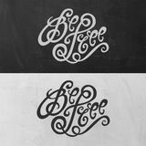 Be Free hand lettering Royalty Free Stock Photo
