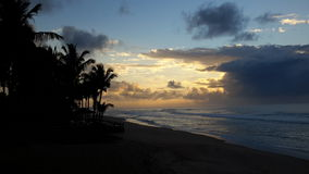 Be free. The sunrise in Brazil, Salvador, Bahia Royalty Free Stock Photos