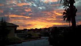 Be free. The sunset in Brazil, Salvador, Bahia Stock Photos