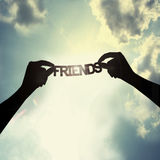 Be a friend. Care for a wonderful friendship Stock Images
