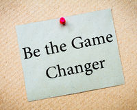 BE THE GAME CHANGER Stock Images