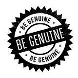 Be genuine stamp. Grunge design with dust scratches. Effects can be easily removed for a clean, crisp look. Color is easily changed Royalty Free Stock Image
