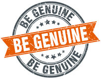 Be genuine stamp Royalty Free Stock Images