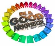 Be a Good Neighbor Houses Homes Community Royalty Free Stock Photos