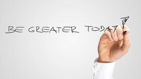 Be Greater Today Royalty Free Stock Images