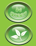Be green_glossy buttons Royalty Free Stock Image