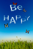 Be happy Stock Photography