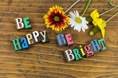 Be happy bright smart happiness royalty free stock photos