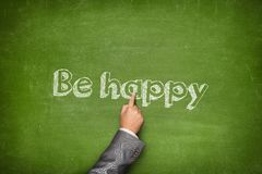 Be happy concept Royalty Free Stock Image