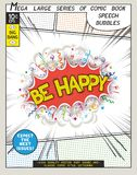 Be happy. Explosion in comic style with lettering Royalty Free Stock Photos