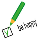 Be happy Royalty Free Stock Photography