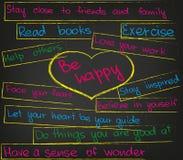 Be happy heart Stock Photo