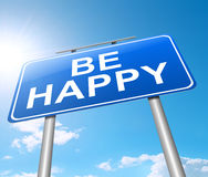 Be happy. Royalty Free Stock Images