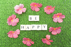 Be happy stock images