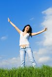 Be happy from life Stock Photography