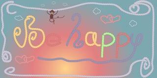 Be happy linetag Royalty Free Stock Photos