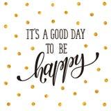 Be happy print Royalty Free Stock Photo