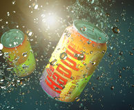 Be happy soda can Stock Images