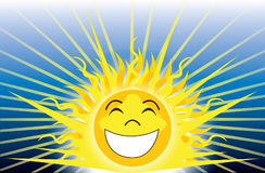Be Happy Sunshine. Vector Illustration of Sunshine, be happy Royalty Free Stock Image