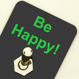 Be Happy Switch Shows Happiness Or Enjoyment. Be Happy Switch Showing  Happiness Or Enjoyment Stock Images