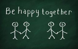 Be happy together Stock Photography