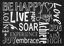 Be Happy - Typography Art with Text Stock Photo