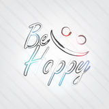 Be Happy Typography Royalty Free Stock Image