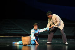 Be helped- Jiangxi opera a steelyard Royalty Free Stock Photo
