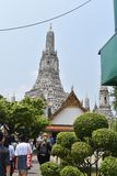 Beautiful pagoda at wat arun one of most famous in Thailand royalty free stock image