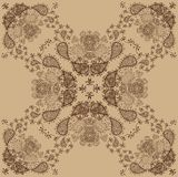 Beż i Brown ornamentu Retro wzór Obraz Royalty Free