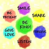 Be kind chart for children Royalty Free Stock Photography