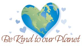 Be Kind To The Planet Stock Photos