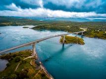 Bełkowiska maelstrom Saltstraumen, Nordland, Norwegia Obrazy Stock
