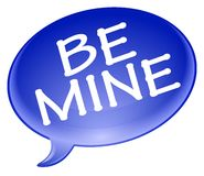 Be mine bubble Royalty Free Stock Image