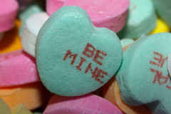 Free Be Mine Candy Heart Stock Photography - 37474442