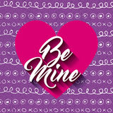 be mine card Stock Image