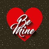 be mine card Royalty Free Stock Photography