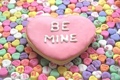 Be Mine Cookie Royalty Free Stock Photos